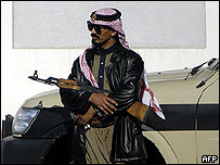 Saudi security guard