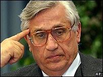 Antonio Fazio, governor of the Bank of Italy