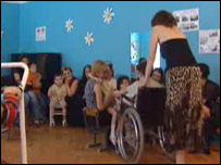 A Unicef sponsored kindergarten in Tbilisi which integrates able-bodied and disabled children