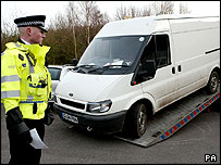 Police remove Transit van