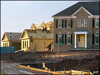 New homes being built in the US