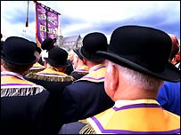 The meeting was attended by Orange Order Grand Master Robert Saulters