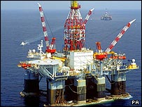 BP oil rig in tge Gulf of Mexico