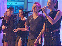 Liberty X performing on Top of the Pops