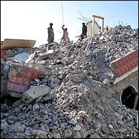 Muzaffarabad rubble