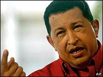 President Chavez speaks on his weekly TV show