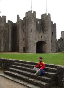 Pete Miles from Canada took this shot of daughter Chloe at Pembroke castle while visiting Wales