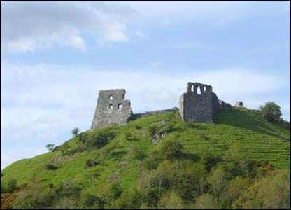 A view of Dryslwyn Castle, Carmarthenshire, taken by Andrew Thomas, Cross Hands.