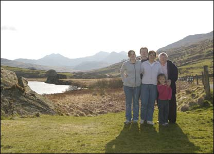 Andrew Richards and family enjoying a nice holiday in Snowdonia