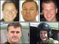Clockwise from top left: Sarah-Jayne Mulvihill; John Coxen; David Dobson; Paul Collins; Darren Chapman