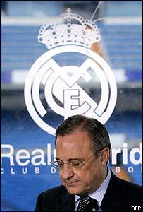 Florentino Pérez, presidente saliente del Real Madrid