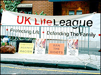 UK Life League protest