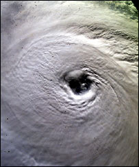 Eye of a hurricane (Eumetsat)