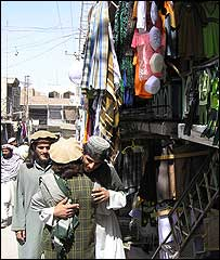 The Miranshah bazaar