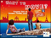 Poster advertising European Year of Workers' Mobility