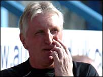 Oldham manager Ronnie Moore