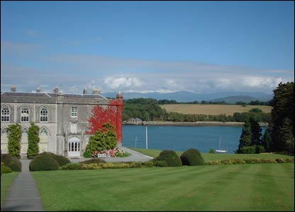 Plas Newydd with Menai Straits and Snowdonia in the background (Elfed Jones, Windsor)