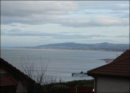 Mark Jones sent in this shot of the view from his balcony in Old Colwyn looking east towards Rhyl