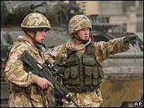 Tropas británicas en Irak.