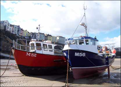 Boats in Tenby harbour, as sent in by Tim Curnow