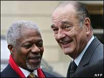 Kofi Annan & Jacques Chirac