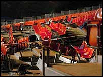 Collapsed seats