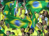 Brazilian football fans