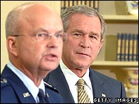 General Michael Hayden with President George W Bush