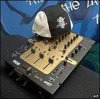 Mixer and hat owned by Grandmaster Flash