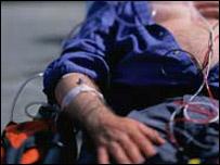 Heart attack victim