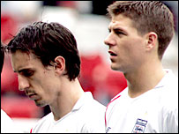 Gary Neville (left) and Steven Gerrard
