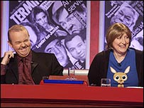 Linda Smith with Ian Hislop