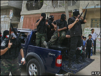 Fatah fighters in Gaza