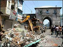 Demolished shrine in Baroda