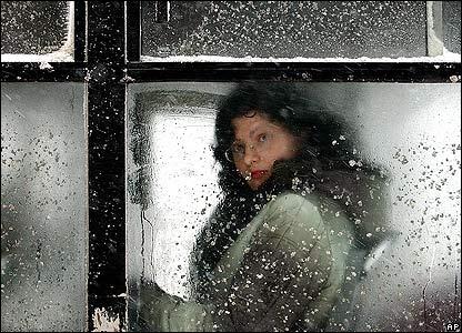 Romanian bus passenger