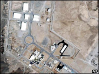 View of Iran's uranium enrichment site at Natanz