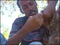 Abbas, a heroin addict in Mombasa