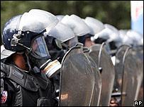 Policía antimotines de El Salvador