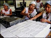 Fábrica de jabones en El Salvador