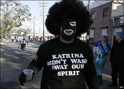Mardi Gras celebrant in New Orleans