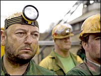 Crumlin miners in the Pot Noodle advert