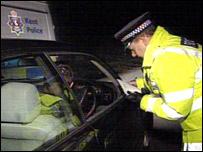 Road check in Faversham