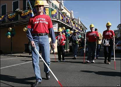 'Blind levee inspectors' join the Mardi Gras parade