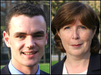 Conservative candidates Jon Burns and Margrit Williams