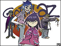 Virtual band Gorillaz