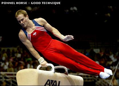 Paul Hamm masters the pommel horse discipline