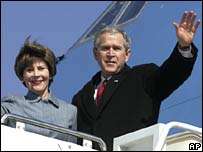 George and Laura Bush.  Image: AP