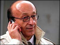 Juventus general director Luciano Moggi