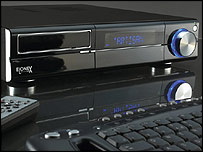 A home media centre running Microsoft Windows