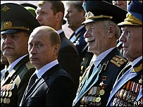Vladimir Putin at Russia's Victory Day parade
